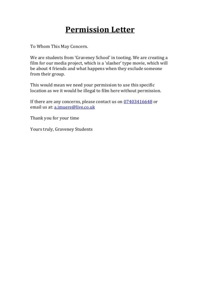 request for permission letter format