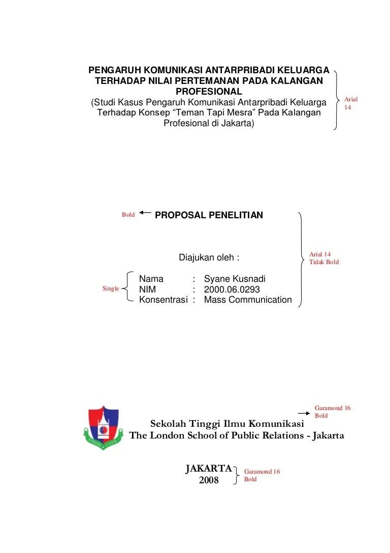 Contoh Proposal Skripsi Fisip Pigura