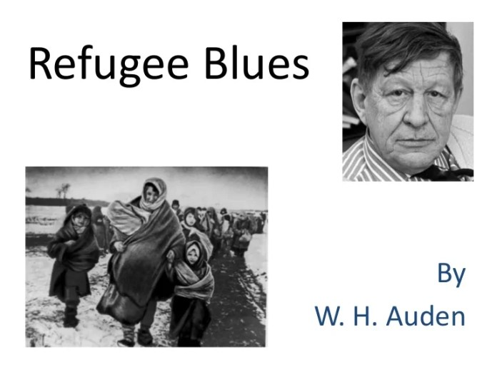 Image result for Refugee Blues by WH Auden.