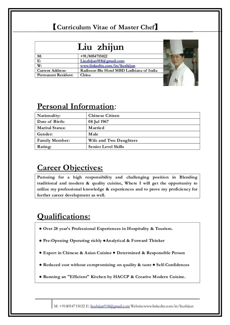 chef resume chef resume word excel pdf psd format pdf chef resume
