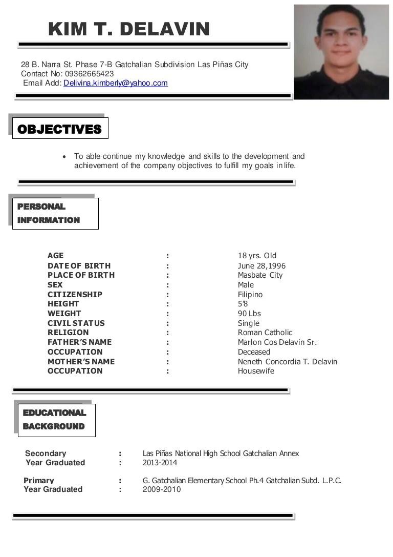 sample of resume last part resume word format free download
