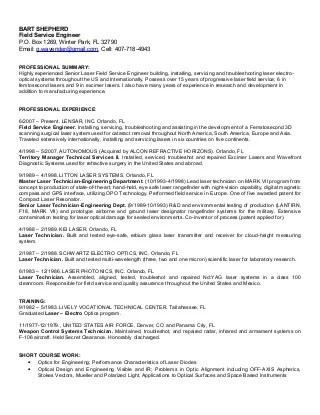 Service Engineer Resume. field service engineer resume hp field ...