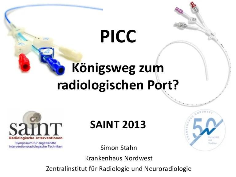 picc konigsweg zum radiologischen port