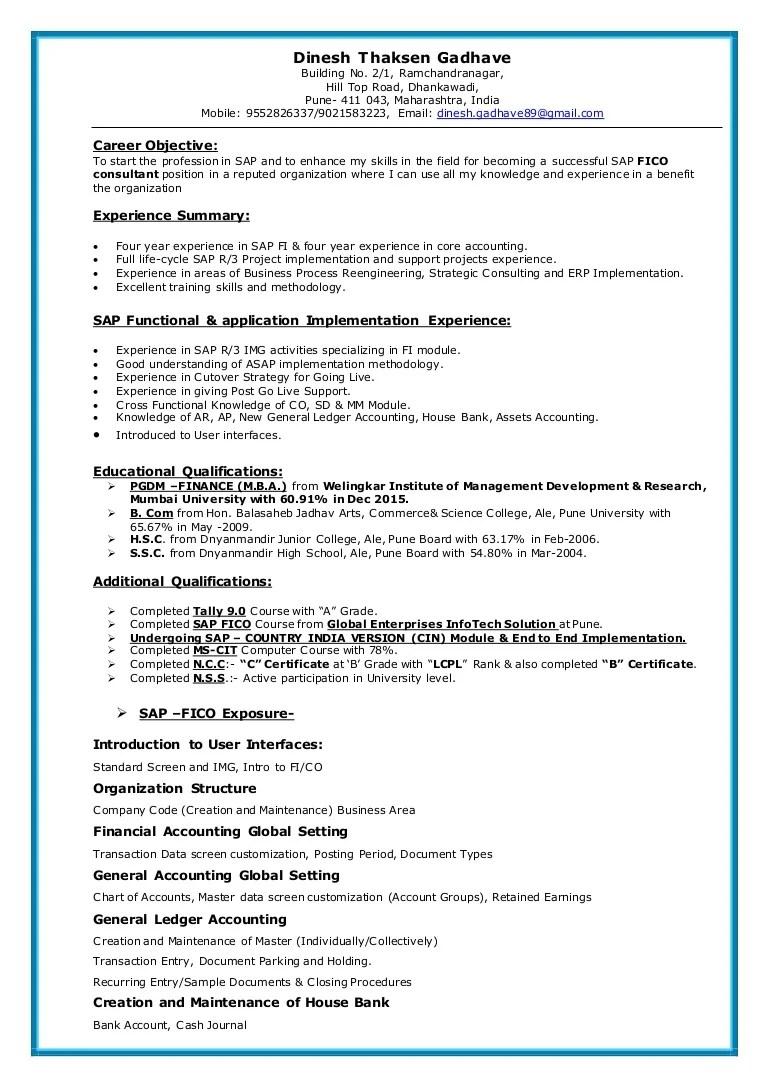 Sap Abap Pi Resume Dalarconcom Sapficoresume 160308113130 Thumbnail 4 Sap  Abap Pi Resume