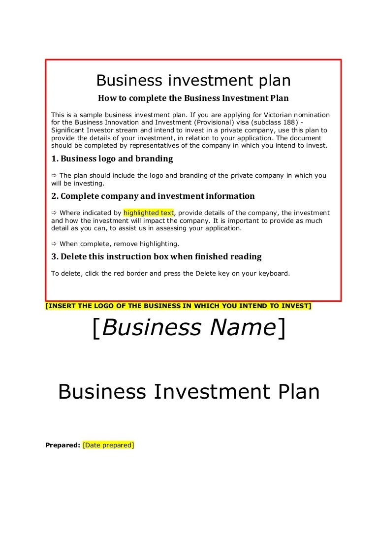 Simple Investment Contract Template business profit and loss – Sample of Investment Agreement Contract