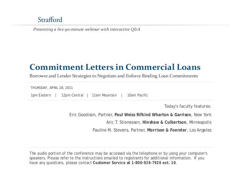 Pledge Commitment Letter