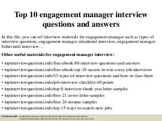 engagement manager linkedin