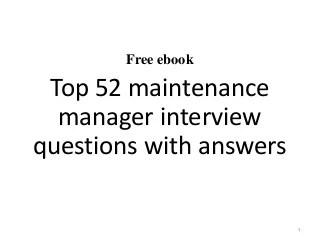 maintenance manager linkedin