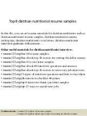 sample dietitian resume sample dietitian resume download