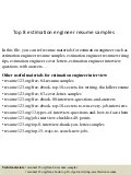 cv electrical estimation engineer