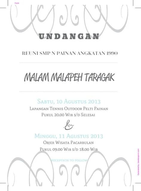 Surat Undangan Alumni Smanda Cirebon 2004
