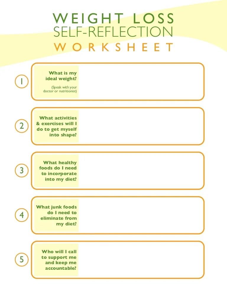Weight loss-self-reflection-worksheet
