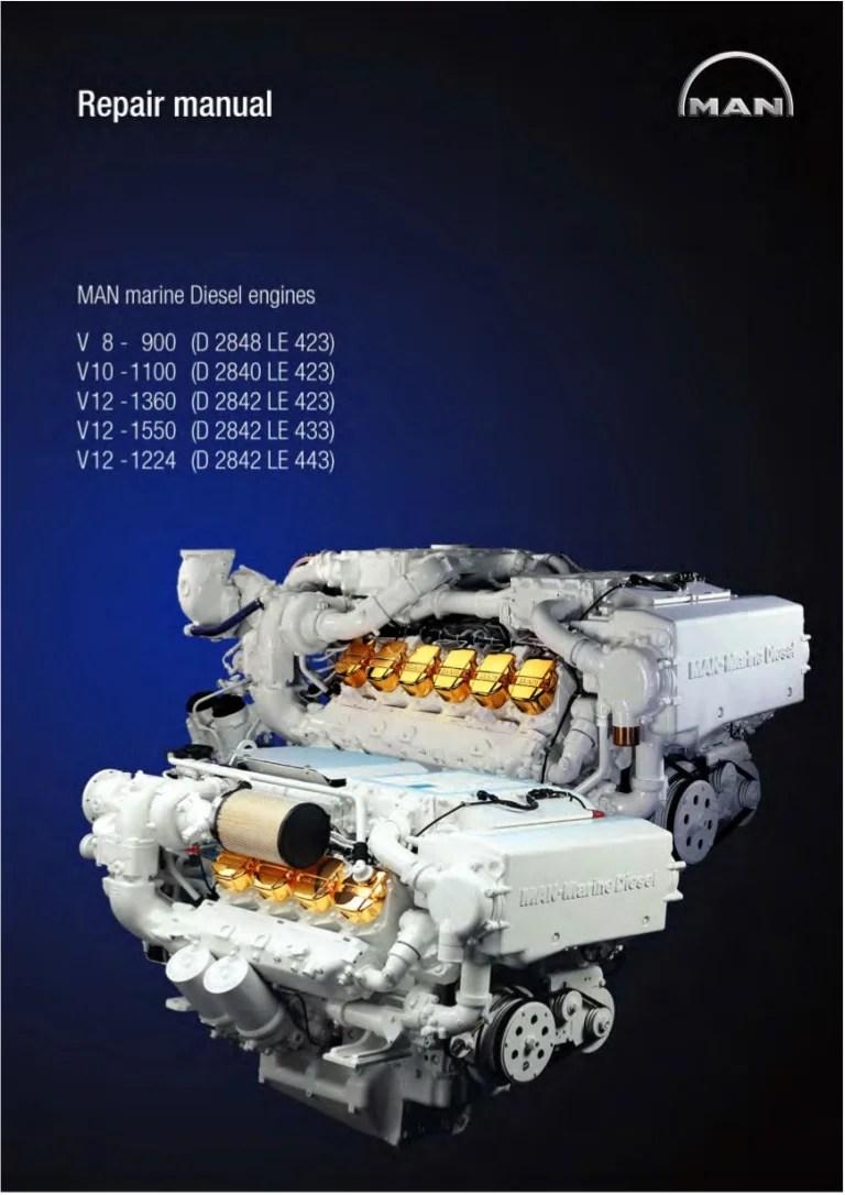 Man Marine Diesel Engine V10 1100 D 2840 Le 423 Service