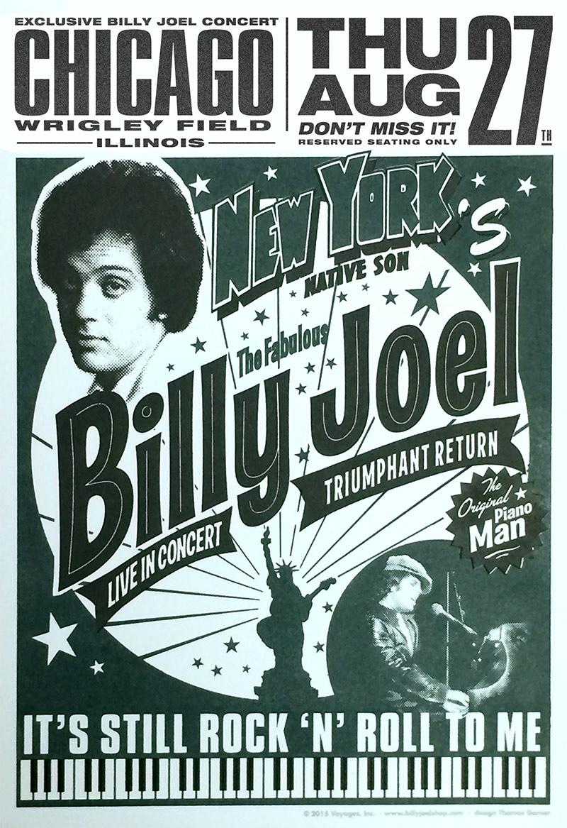 billy joel at wrigley field chicago il