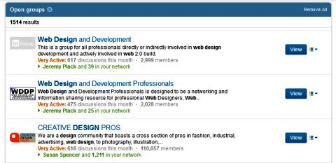 linkedin groups web design