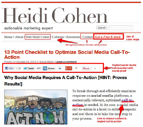heidi cohen call to action