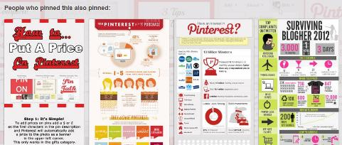 Pinterest below expanded pin