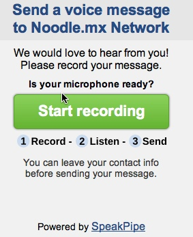 speakpipe voice message widget