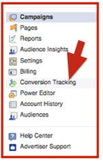 facebook ad conversion tracking