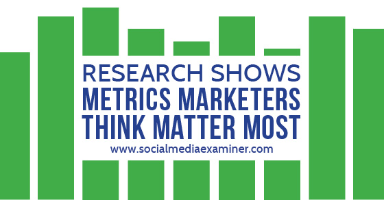 Research Shows Metrics Marketers Think Matter Most