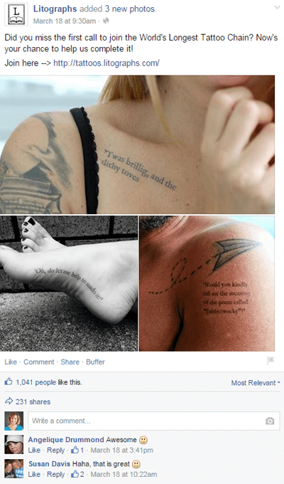 litograph tattoo facebook post