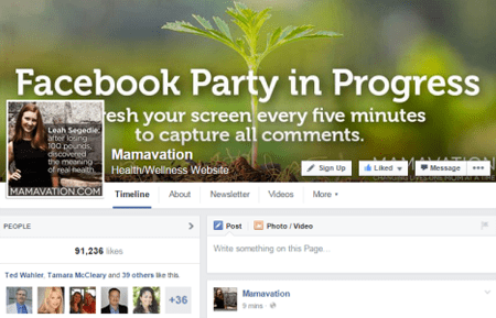 mamavation facebook party cover image