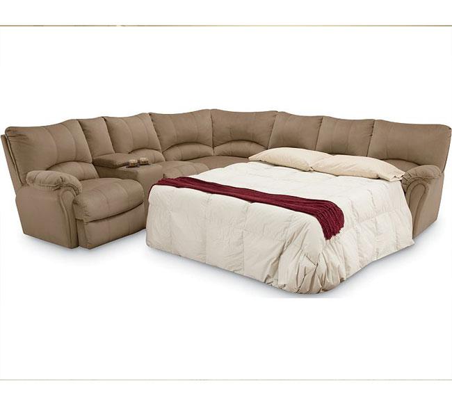 alpine reclining sleeper sectional 204
