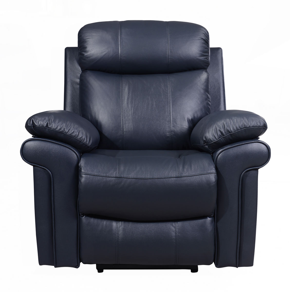 Joplin Power Leather Reclining Sofa In Blue Sofas And