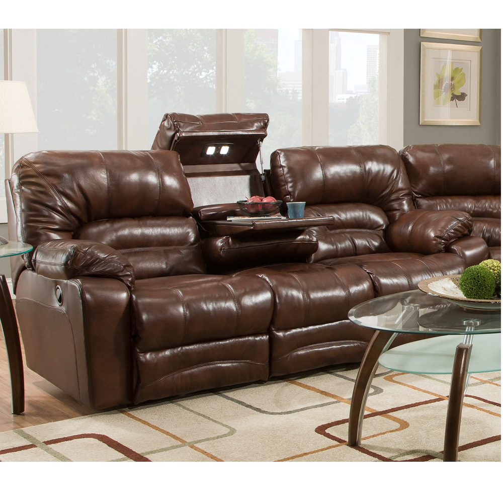legacy 500 leather reclining sectional