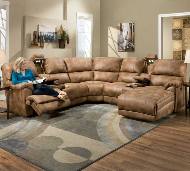 presley 572 reclining sectional in