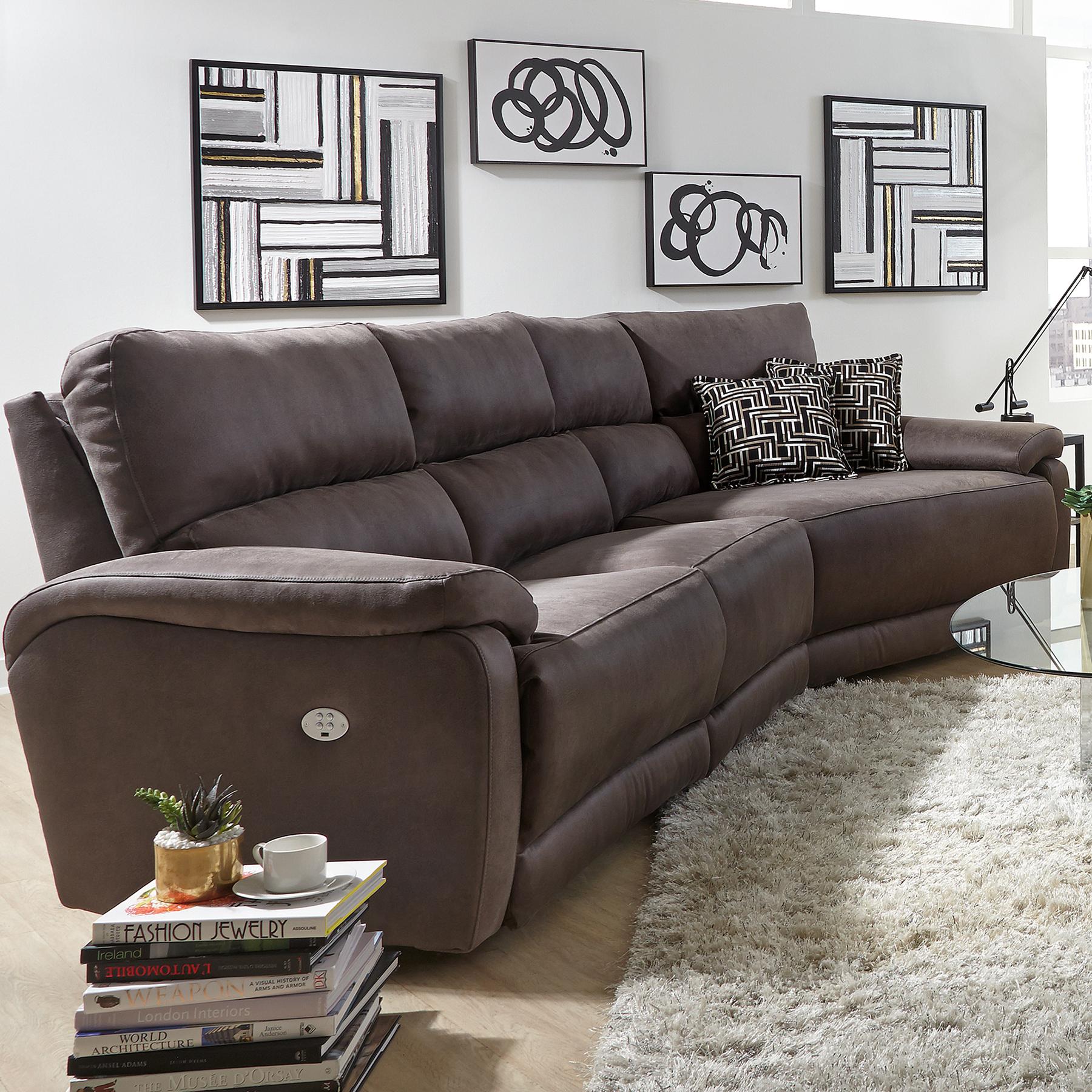 top secret reclining sectional w power