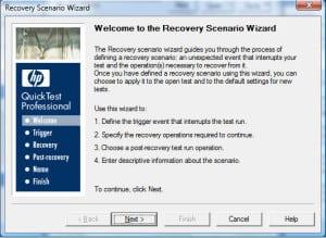 Recovery scenario