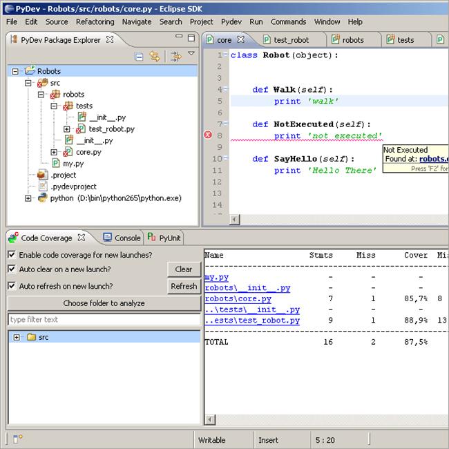 PyDev screenshot3