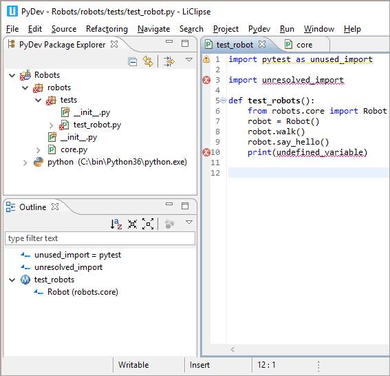 PyDev screenshot1