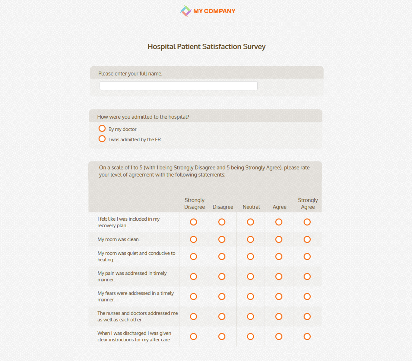 Patient Satisfaction Survey Template 21 Questions Sogosurvey