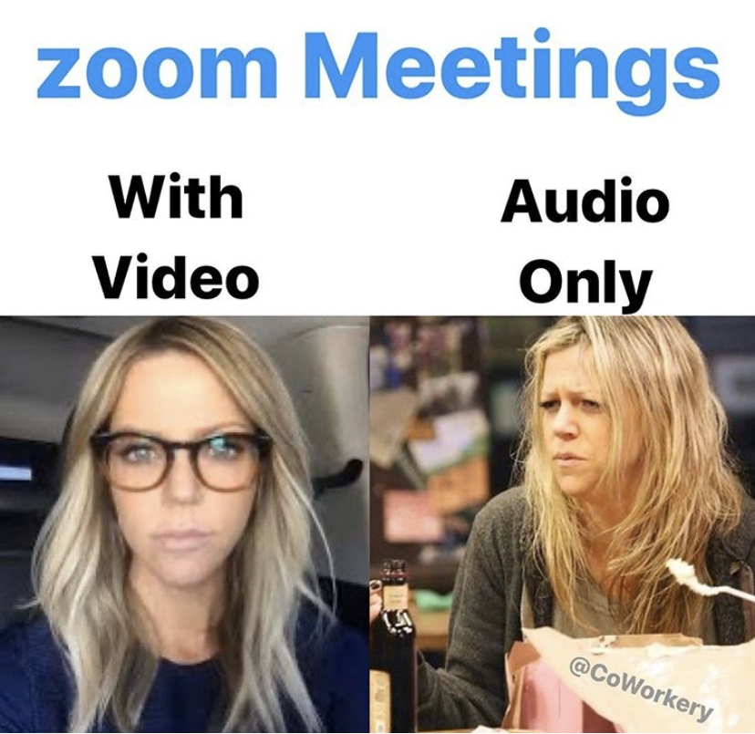 Zoom Meeting Audio Only With Video Meme