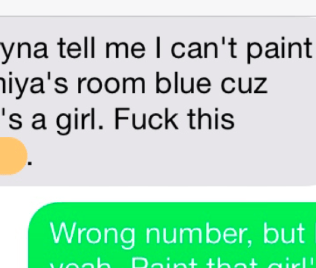Man Trying To Paint His Daughters Bedroom Texts The Wrong Number And Finds The Perfect Friend