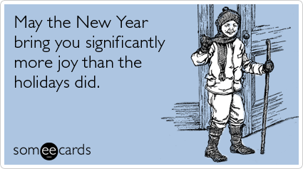 someecards.com - May the New Year bring you significantly more joy than the holidays did