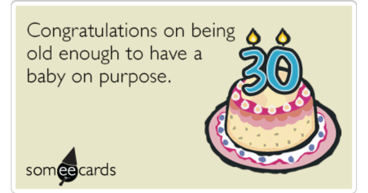 30th Birthday Baby Funny Ecard