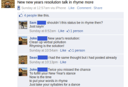 Funny New Years Facebook Updates