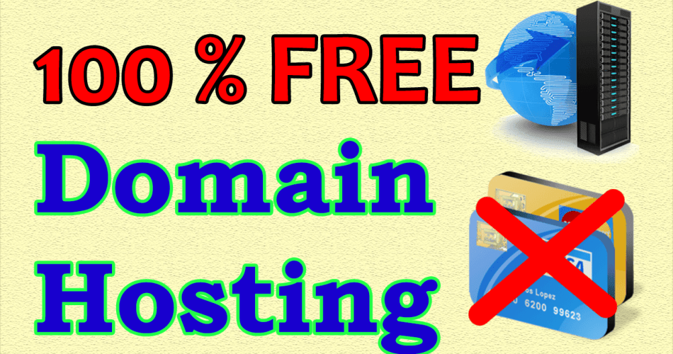 Get 100% Free Hosting & Domain Without Card Verification