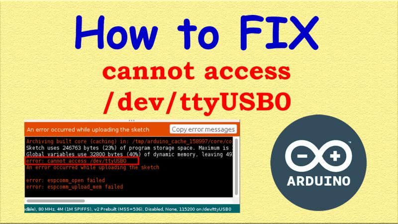Fix /dev/ttyUSB0 Arduino IDE | 100% Working Trick