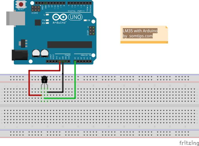 LM35 Temperature Sensor with Arduino UNO