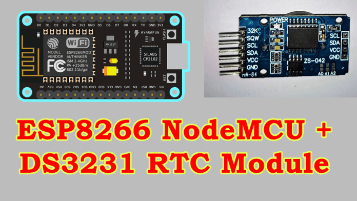 how to Set Time on DS3231 Real Time Clock Module with ESP8266 NodeMCU