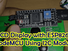 Connect LCD Display with ESP8266 Using I2C Module