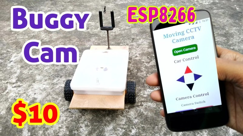 Buggy Cam ESP8266 Arduino Project costs Just $10