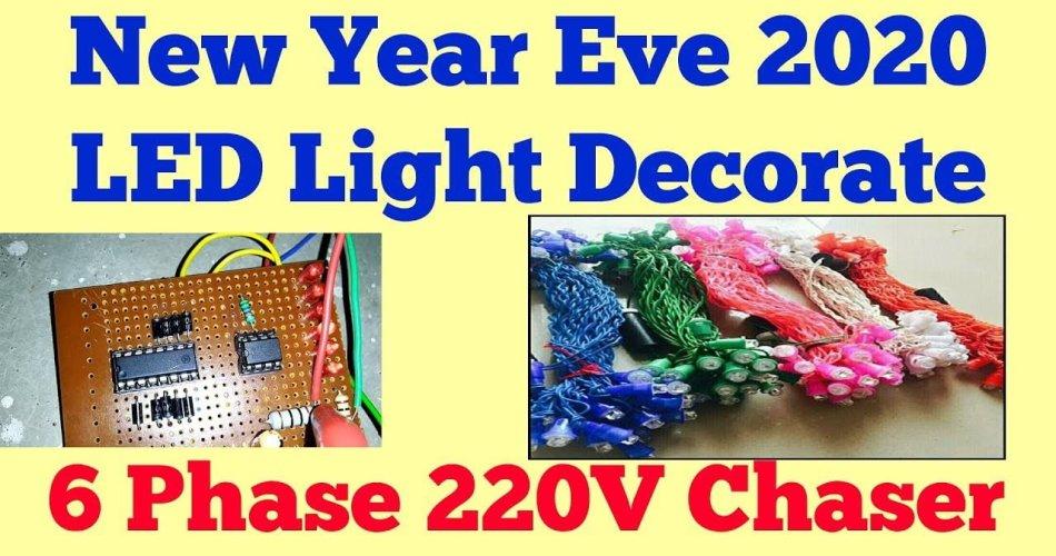 6 Channel Light Chaser Circuit 220V
