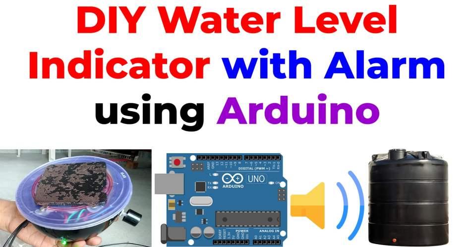 water level indicator with alarm using arduino