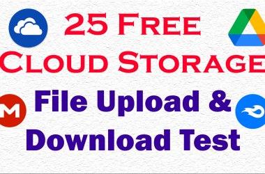 free cloud storage with speed test
