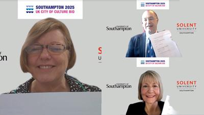 Virtual signing as universities' support City of Culture bid.